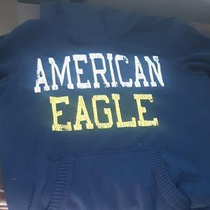American eagle navy hoodie